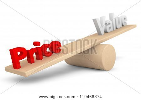 Price And Value Balance Concept