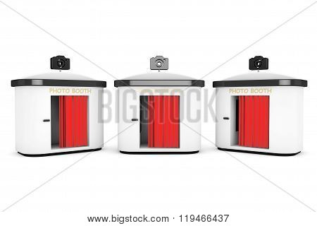 Photo Booth With Red Curtain