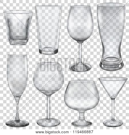 Transparent Empty Glasses And Stemware