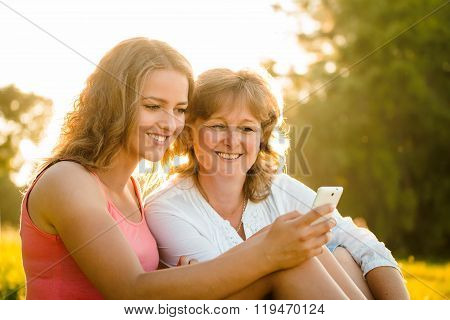 Happy moments together - mother and daughter