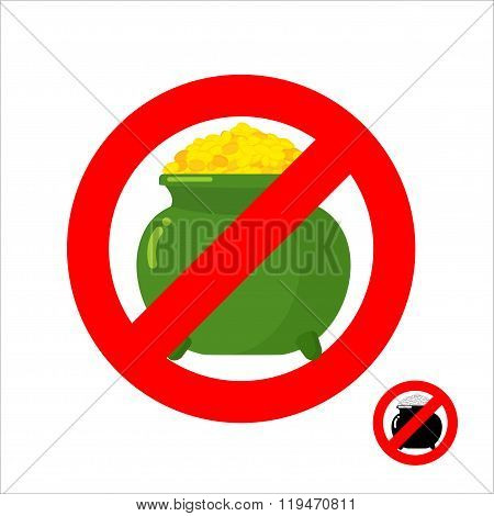 Stop Leprechaun Gold. Forbidden Flower Pot With Gold Coins. Frozen Leprechaun Treasure. Emblem Again