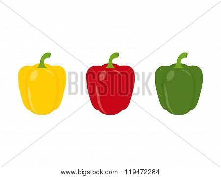 Set Of Three Peppers