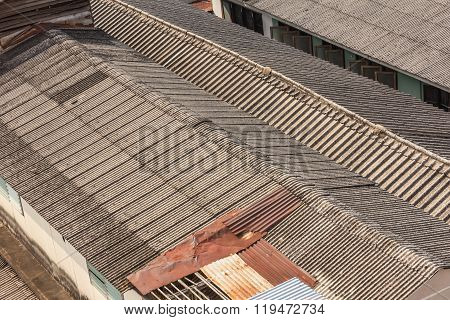 Galvanized Iron Roofs.metal roof with texture