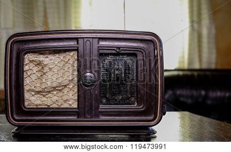 Old Wooden Vintage Radio