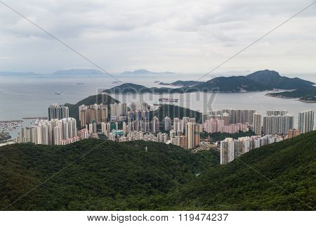 Hong Kong, Sar China - Circa July 2015: Dense High Rise Residential Uildings Of Southern Hong  Kong