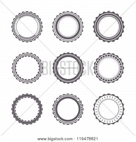 Set Of Emblems, Vector Illustration.