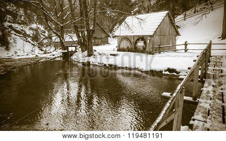 Watermill In Kvacianska Dolina, Slovakia