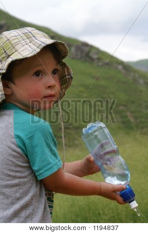 The Boy With A Bottle Of Water