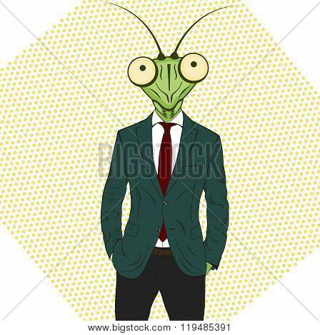 Cartoon Character Mantis.