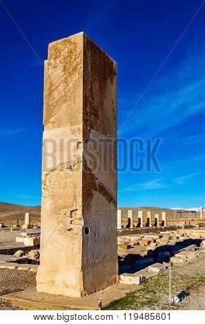 Ruins at Audience Palace in Pasargadae, Iran