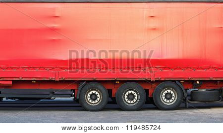 Side Of Red Truck