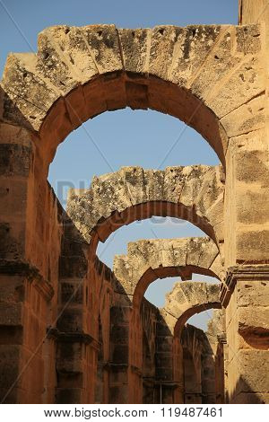 Archway In Ancient Amphitheater