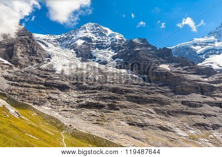 View Of The Monch And Eiger Glacier