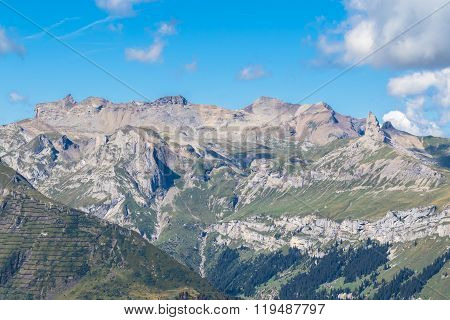 Panorama View Of The Swiss Alps Rom Mannlichen