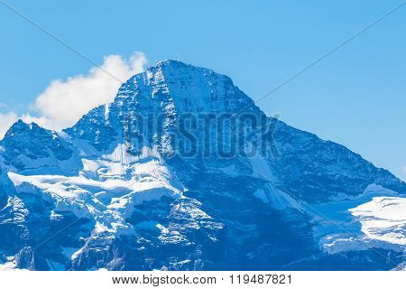 View Of The Famous Peak Breithorn