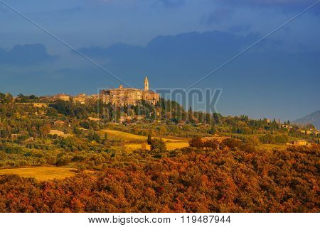 View to the Pienza