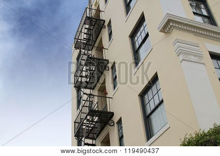 Fire Escape Stairs On Building