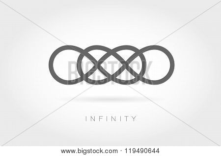 Limitless icon. Simple mathematical sign