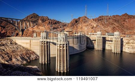 Hoover Dam And Pat Tillman Memorial Bridge
