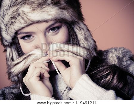 Woman In Fur Cap
