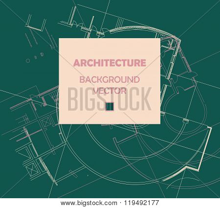 Drawing of abstract architectural detail on flat surface.