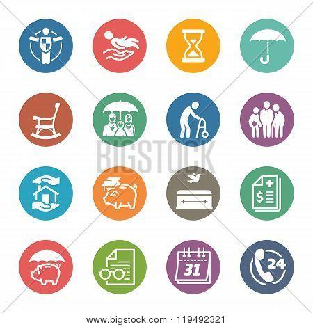 Life Insurance Icons - Dot Series