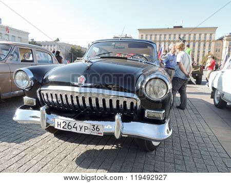 Retrocar Gaz M21 Volga Of The Series Two Black Color