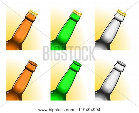 Tilted Beer Bottle Necks