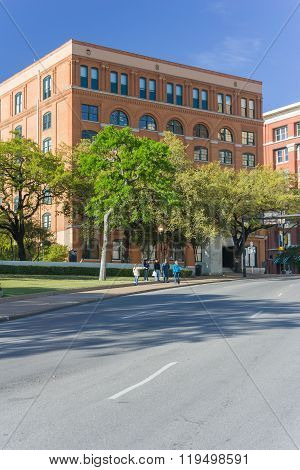 Dallas, Tx/usa - Circa April 2015: Sixth Floor Museum At Dealey Plaza Where Kennedy Was  Shot