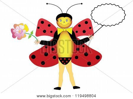 Symbolic summer ladybug