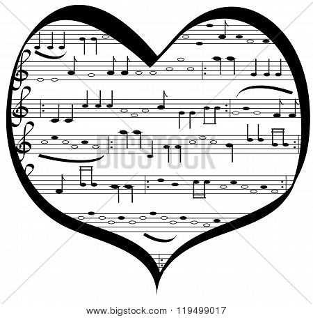 Music lovers heart
