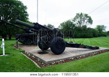 Cannon and M-48 Patton Tank