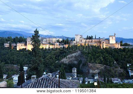 Alhambra At Twilight
