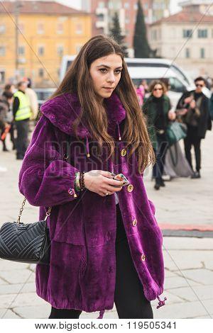 People Outside Gucci Fashion Show Building For Milan Women's Fashion Week 2016