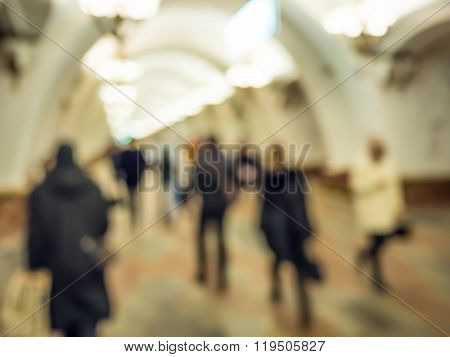 City commuters in subway