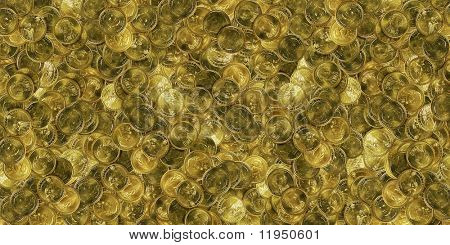 huge pile of gold american dollar coins