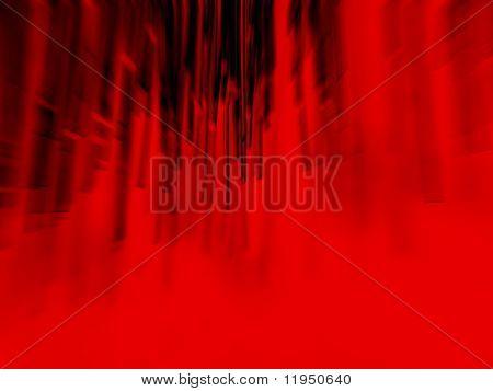 fibra óptica en rojo