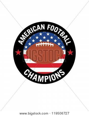 Vector American Football Crest and Emblem