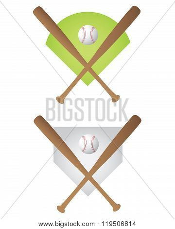 Vector Baseball Symbol and Icon Set