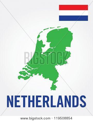 Vector Netherlands Map