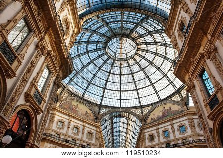 Vittorio Emanuele Milan Shopping Mall Interior