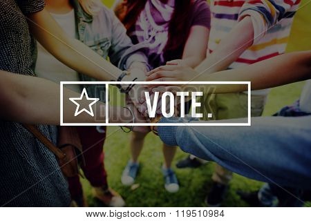 Vote Voter Choice Election Polling Voting Poll Concept