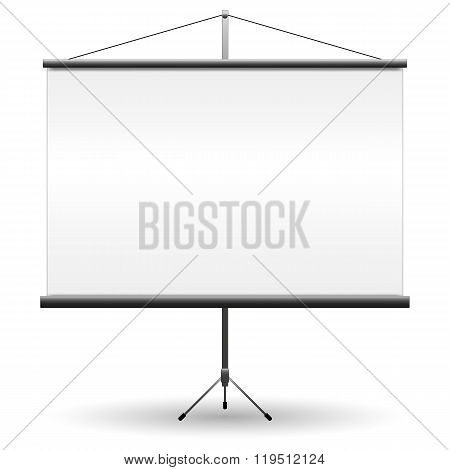 Blank Projection screen, vector