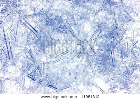 Closeup of ice crystals with very shallow DOF
