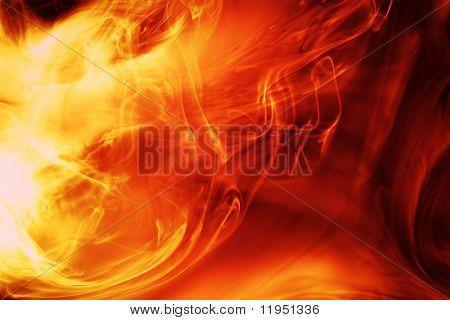 Fondo de fuego mágico