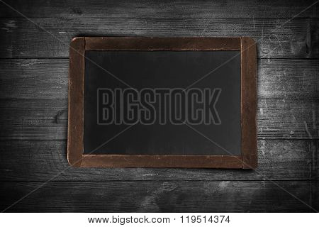 Chalkboard on wooden