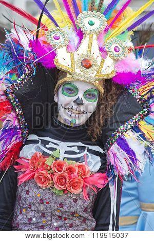 Young Girl At Carnival Parade