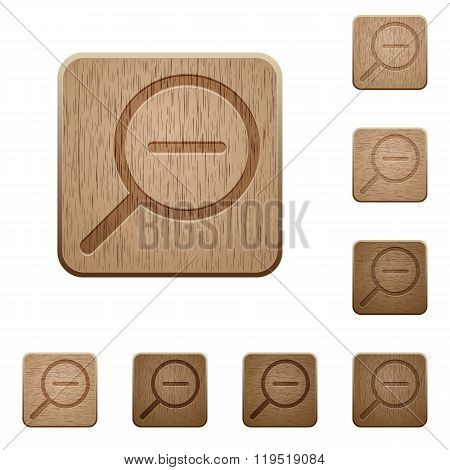 Zoom Out Wooden Buttons