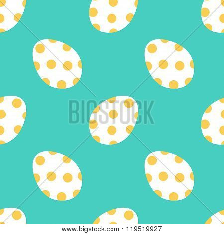 Cute colorful easter eggs seamless pattern background.