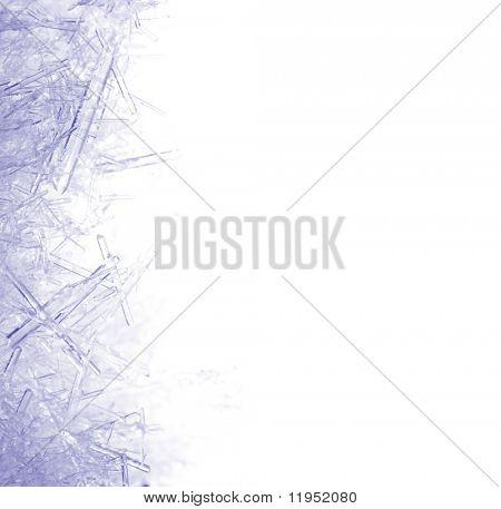 Closeup de cristais de gelo com muito superficial DOF